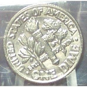 1981-P Roosevelt Dime BU In the Cello FULL BANDS #0589