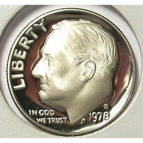 1978-S DEEP CAMEO Proof Roosevelt Dime #0603