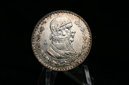 1966  Mexico 1 Peso  Silver Coin Morelos
