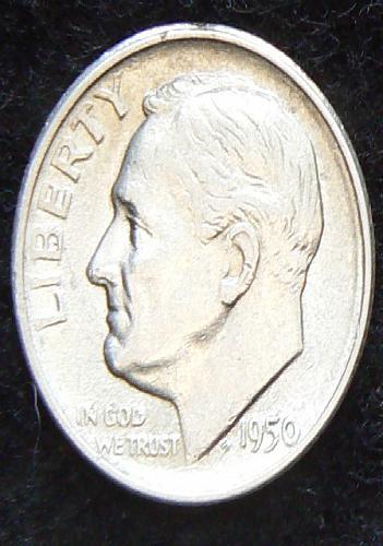 1950 S Roosevelt Dime (EF-45)