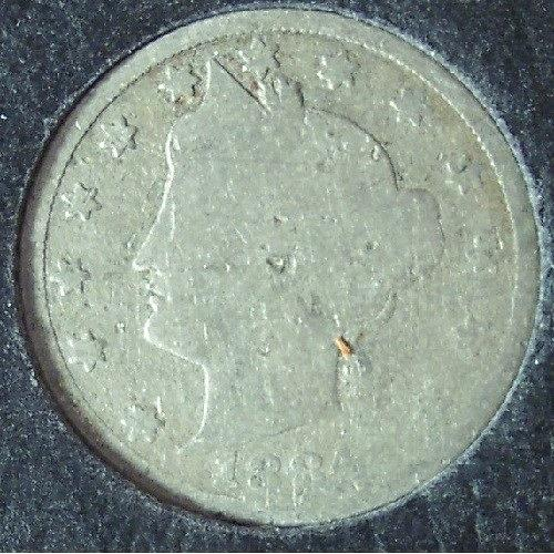"1884 Liberty Head ""V"" Nickel AG #0630"