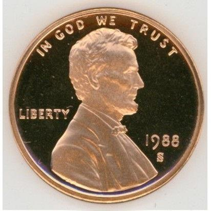 1988-S DEEP CAMEO Proof Lincoln Penny #0633