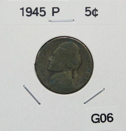 1945 P Jefferson Nickel ***WWII - 35% Silver***