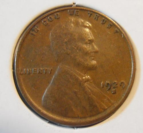1929 S Lincoln Cent, Circulated (29SEW4)