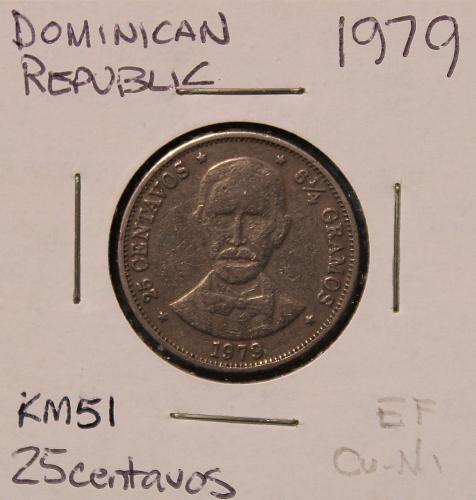 Dominican Republic 1979 25 centavos