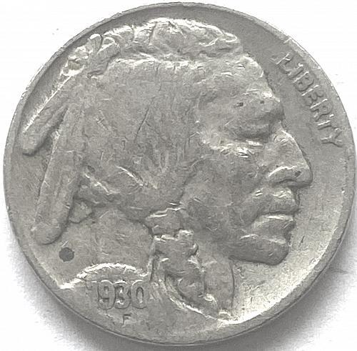 1930-P 5c Buffalo