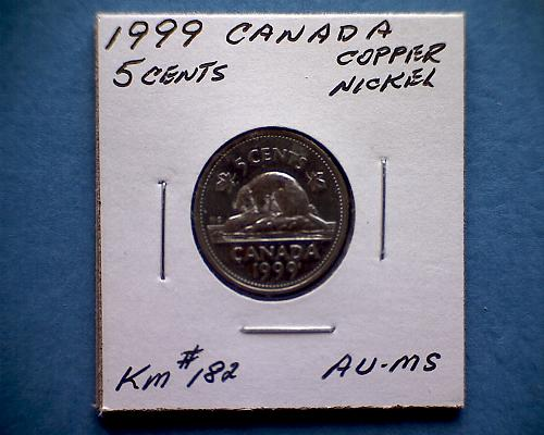 1999 CANADA FIVE CENTS QUEEN ELIZABETH 11