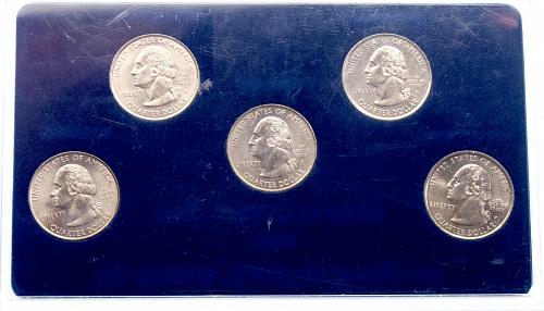 All 5 1999P State Quarters