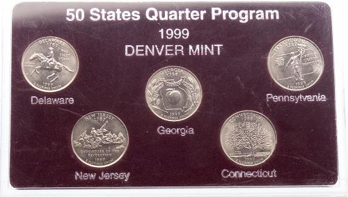 All 5 1999D State Quarters