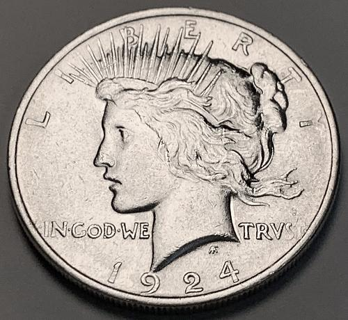 1924 Peace Dollar UNC [PDL 64]