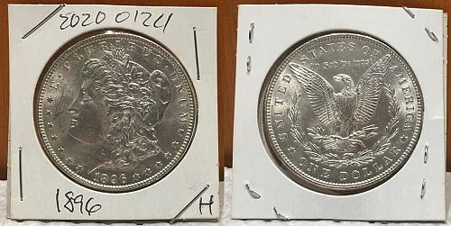 1896  Morgan New Uncirculated fresh out the roll!