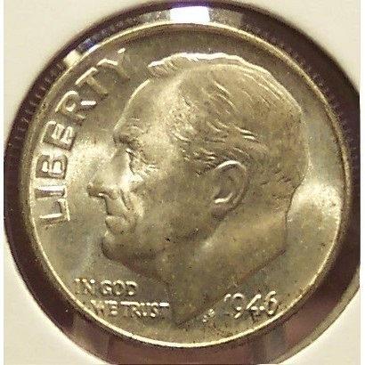 1946-D Roosevelt Silver Dime BU #0642