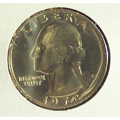 1972-S Washington CAMEO Proof Quarter #0655