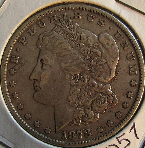 1878-P Silver Dollar 7 tail fearhers 3rd ReverseSILVER EXPLODES /////