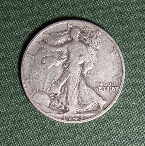 1942S Walking Liberty Silver Half Dollar