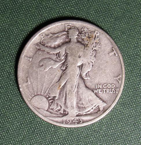1943S Walking Liberty Silver Half Dollar