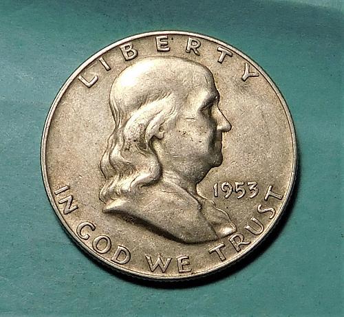 1953 D FRANKLIN / LIBERTY BELL HALF DOLLAR