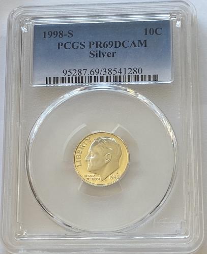 1998-S 10c Silver Jefferson