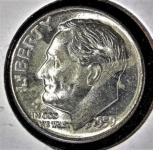 1959 D Roosevelt Dime 90% Silver BU