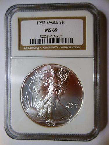 1992-P 1 OZ. American Silver Eagle Bullion Coin