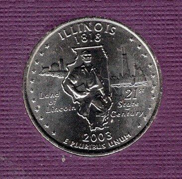 2003 P Illinois 50 States and Territories Quarters - #3