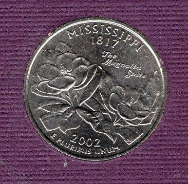 2002 D Mississippi 50 States and Territories Quarters -3