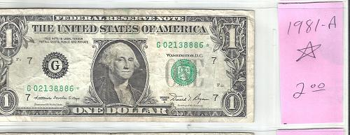 1981 A    FEDERAL RESERVE ****STAR**** NOTE