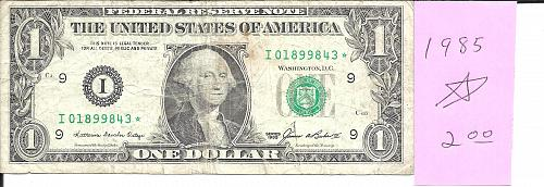 1985     FEDERAL RESERVE ****STAR**** NOTE