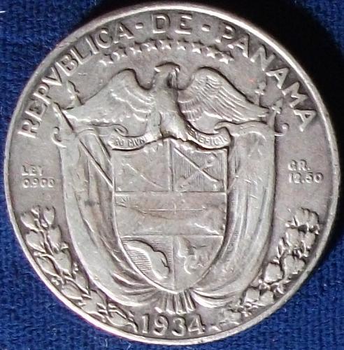 1934 Panama Balboa VF