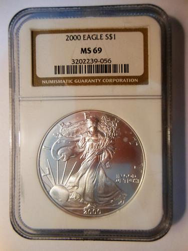 2000-W 1 OZ. American Silver Eagle Bullion Coin