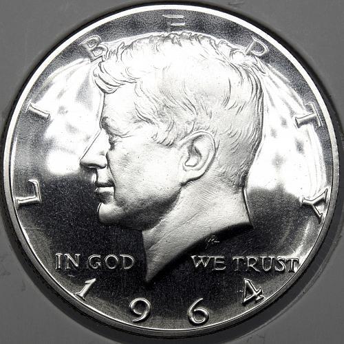 1964P Kennedy Half Dollar #15 DDO Error CAMEO PROOF