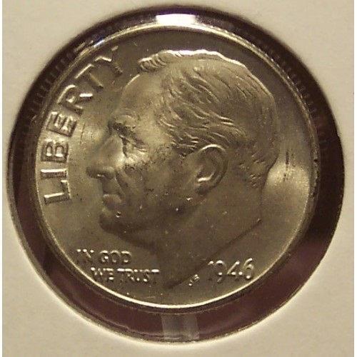 1946 Roosevelt Silver Dime BU #0678