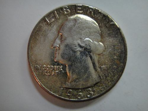 1963 Washington Quarter MS-64 (Near Gem) Light Russet Tone!