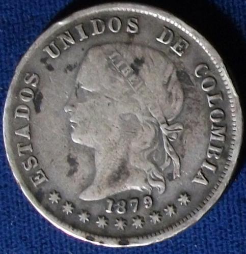 1879 Colombia 50 Centavos VG
