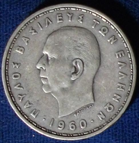 1960 Greece 20 Drachmai Fine+
