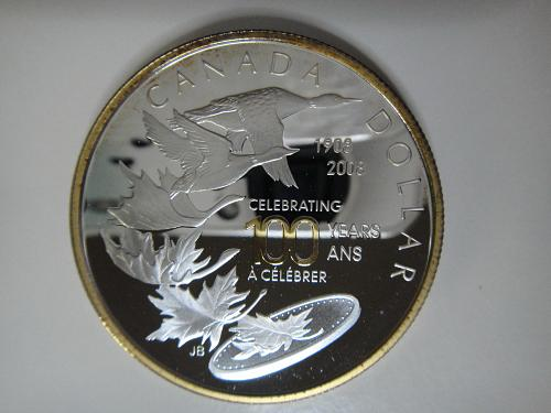 CANADA Dollar 2008 Proof-66 (GEM+) 100th Anniversary of Ottowa Mint