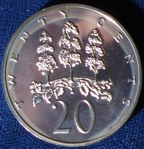 1973 Jamaica 20 Cents Proof