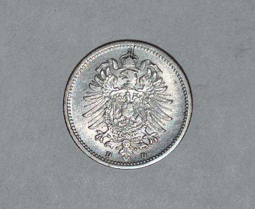 1876 d GERMAN EMPIRE 20 PFENNIG y329