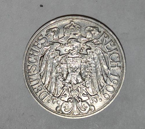1909 D Germany 25 pfennig y332