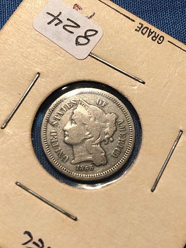 Three Cent Nickel 1866