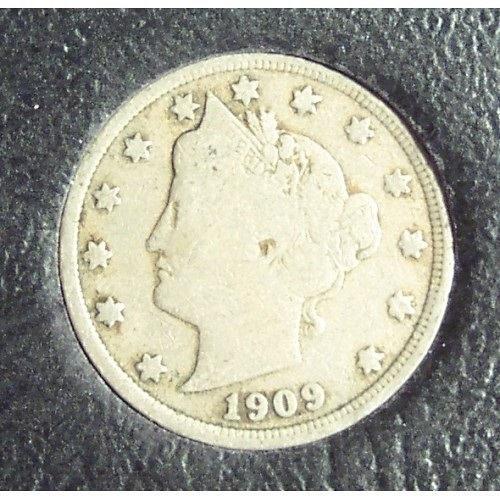 "1909 Liberty ""V"" Nickel VG #0731"