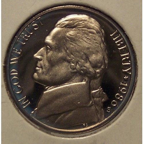 1986-S Cameo Proof Jefferson Nickel #0738