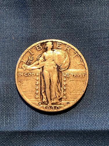 Standing LIberty Quarter; 1930-S