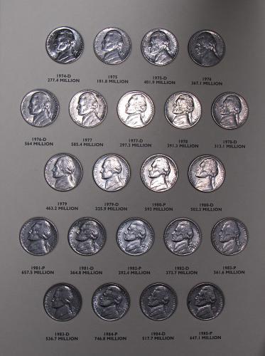 Jefferson Nickels Volume Two 1962-1996