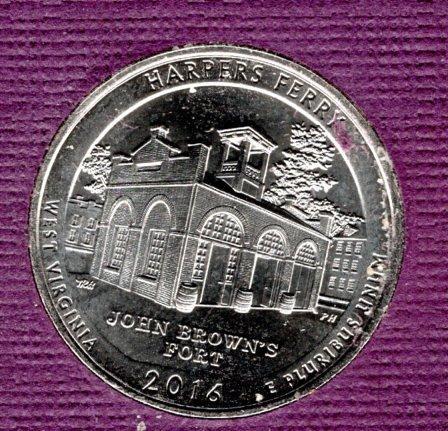 2016 P Harpers Ferry America The Beautiful Quarters -#1
