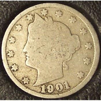 "1901 Liberty ""V"" Nickel G4 #0749"