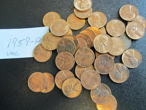 1959-P Lincoln Cent Uncirculated (One (1) Coin)