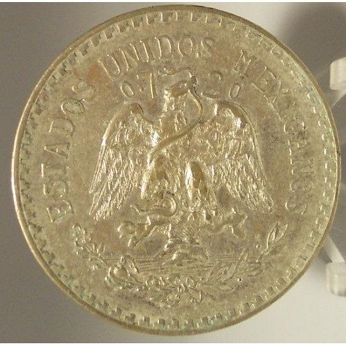 KM# 455 1933-M Silver Mexican Peso XF/AU #0767