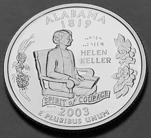 2003-S Silver Proof Quarter: 50 States- Alabama [BSWQ 276]