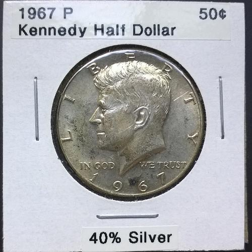 1967 P Kennedy Half Dollar - 4 Photos!